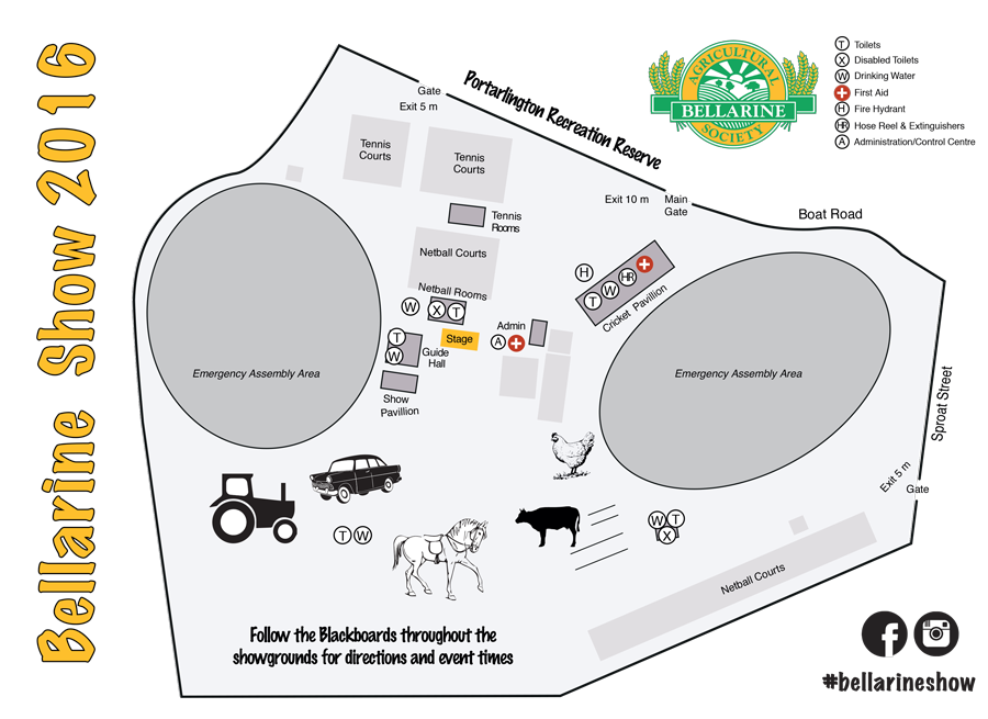 Bellarine Show Map 2016